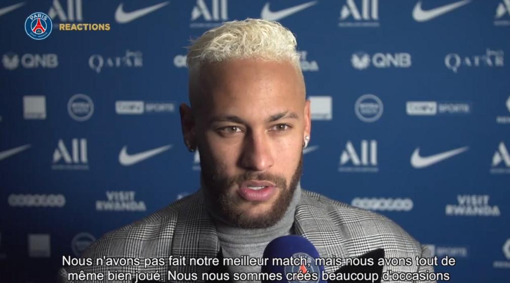 """Neymar assure que le PSG peut faire """"une grande saison"""" en continuant la mentalité affichée dernièrement"""