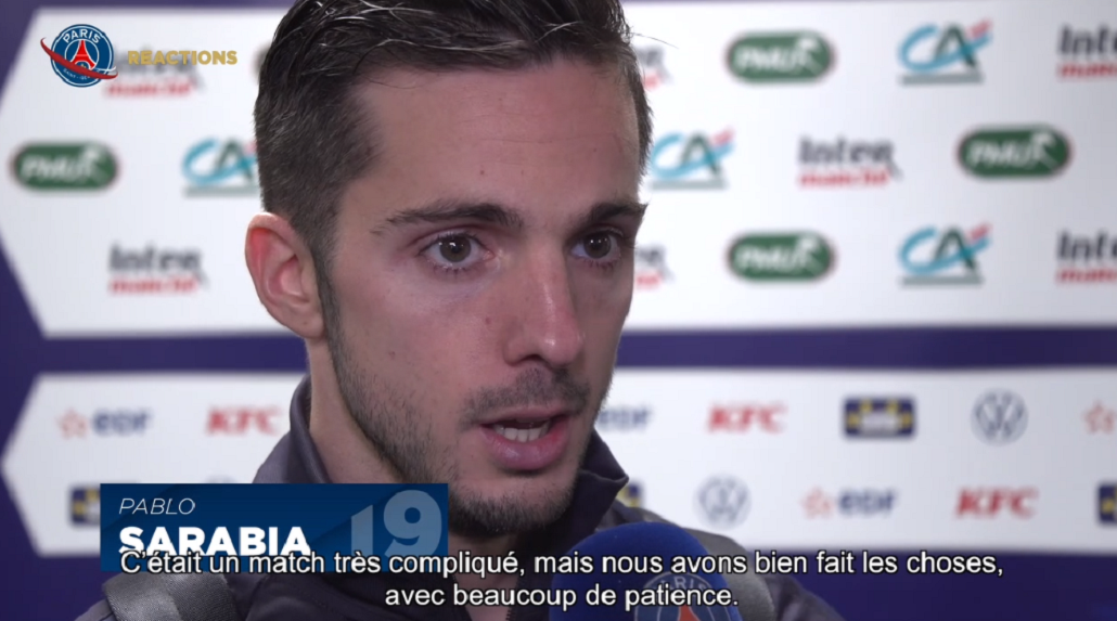 Lorient/PSG - Sarabia retient l'essentiel «nous sommes qualifiés, c'est ce qui compte»