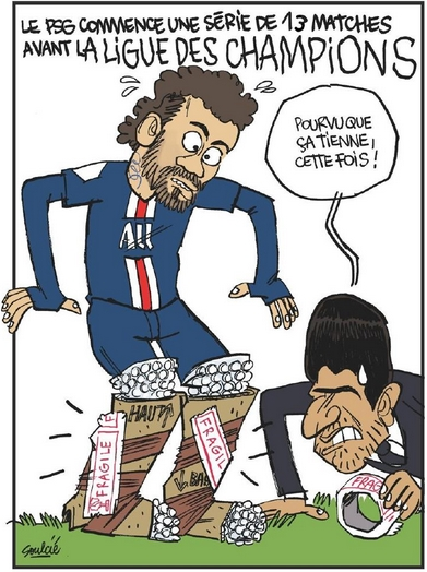 L'Équipe s'amuse encore du marathon qui attend le PSG jusqu'à la Ligue des Champions avec la fragilité de Neymar