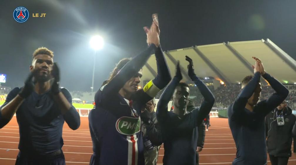 Les images du PSG ce lundi : célébrations, réactions et geste technique suite à la victoire contre le Linas-Montlhéry