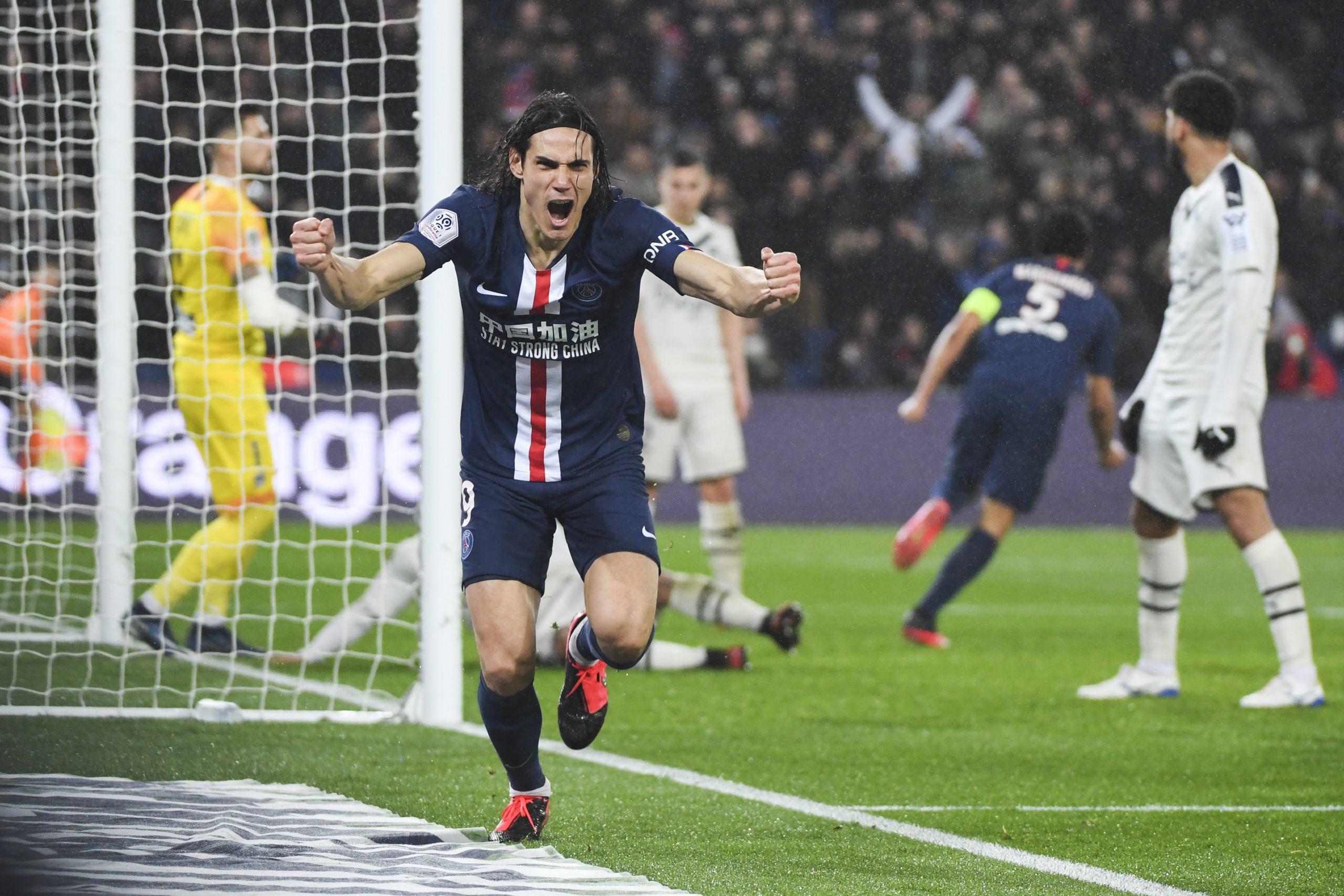Les images du PSG ce dimanche : victoire face à Bordeaux et 200e but pour Cavani