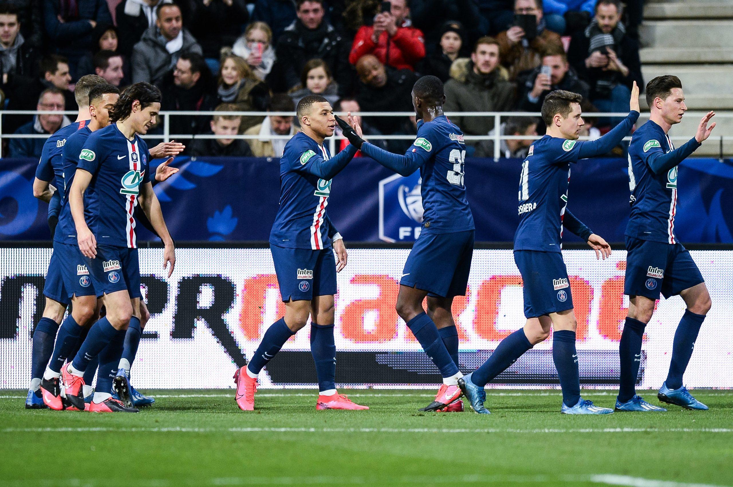 Les images du PSG ce mercredi : célébrations de la victoire à Dijon