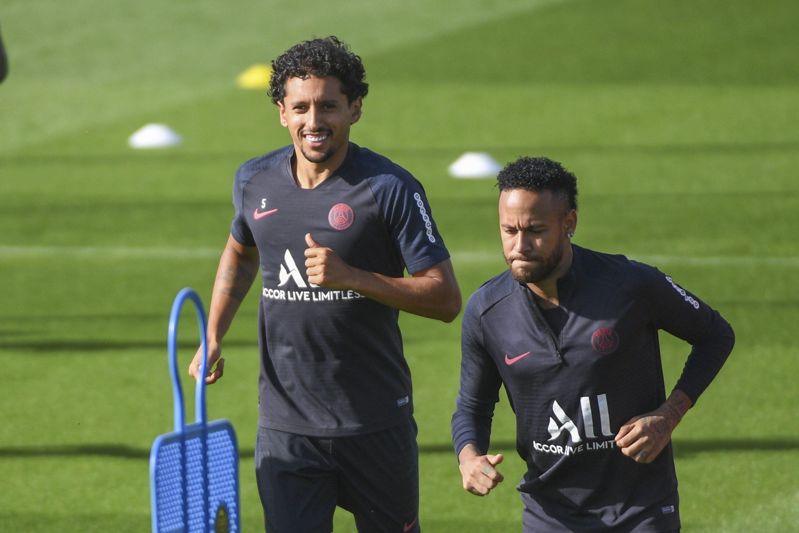 PSG/OL - Neymar et Marquinhos à l'entraînement ce samedi, pas Bernat