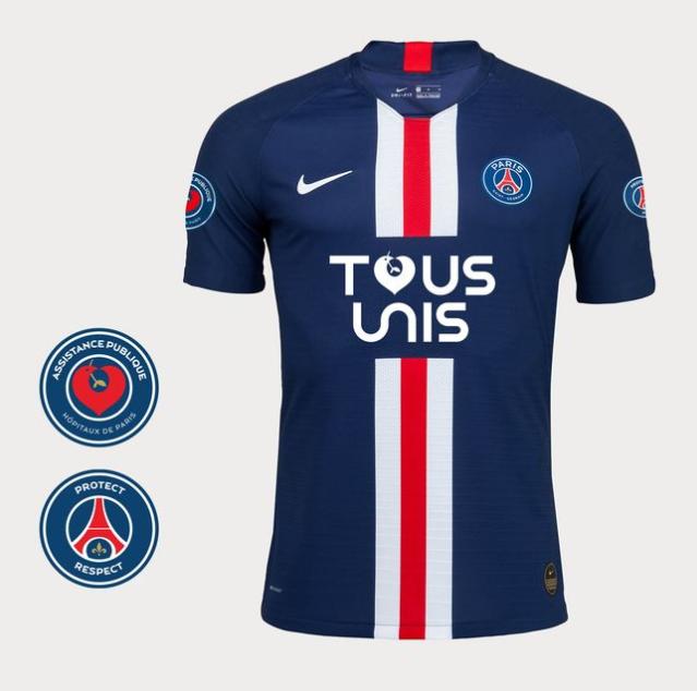 """Le PSG met en vente un maillot spécial """"Tous unis"""" pour aider le personnel de santé"""