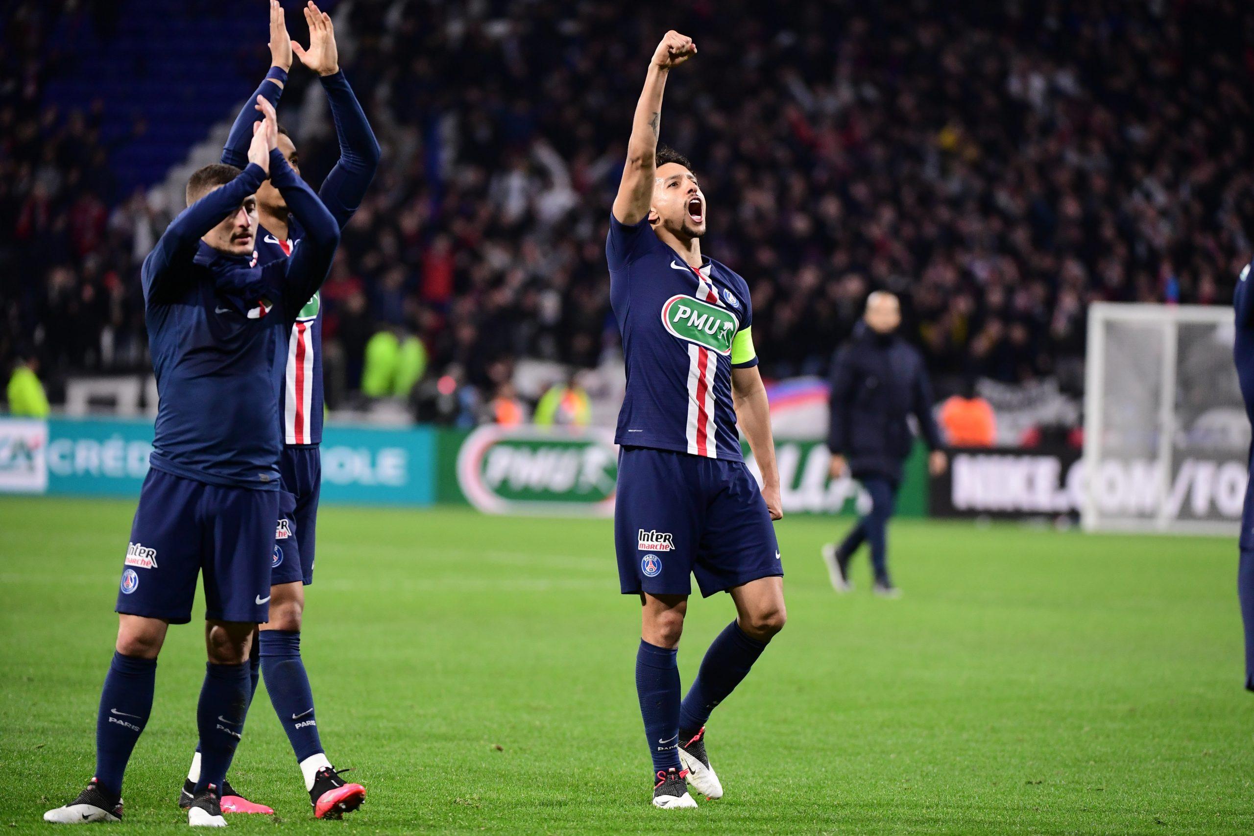 Les images du PSG ce mercredi : célébrations de la victoire à Lyon