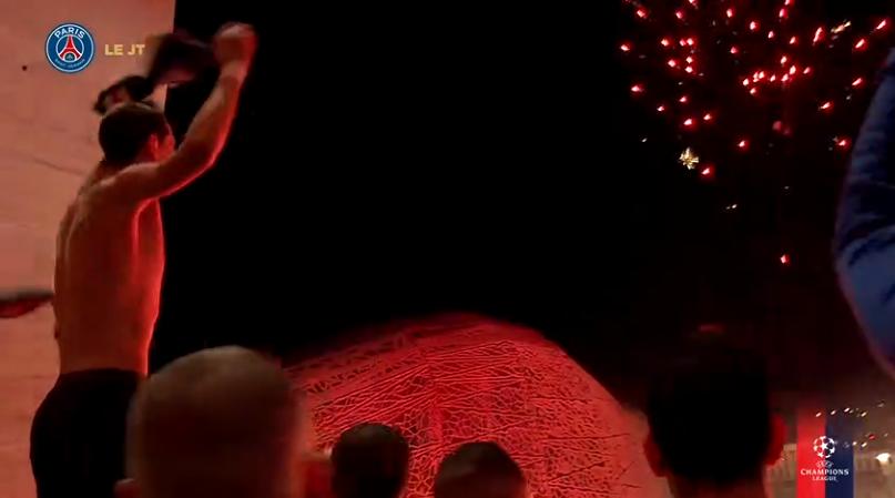 Les images du PSG ce jeudi : célébrations de la qualification en quart de finale