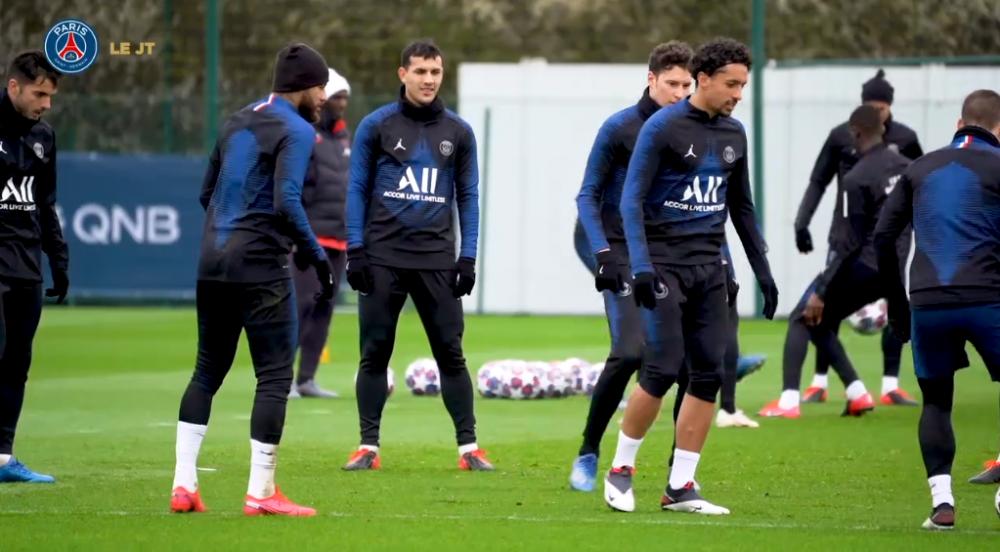 Les images du PSG ce mardi : entraînement et motivation avant de recevoir Dortmund