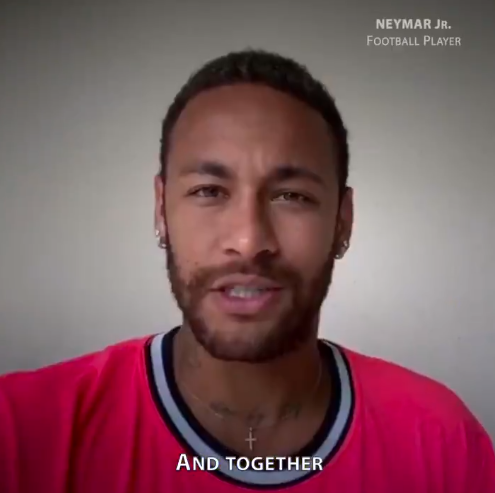 """Neymar participe à un message avec les Nations Unies pour gagner """"le match de nos vies"""""""