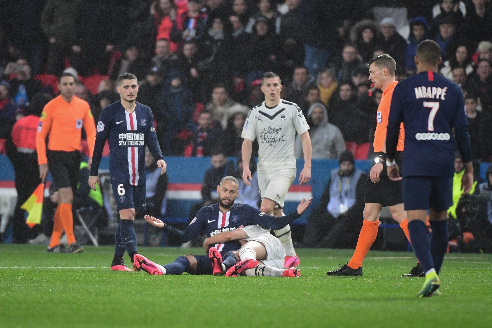 Ligue 1 - Neymar est le joueur qui a subi le plus de fautes en moyenne sur la saison 2019-2020