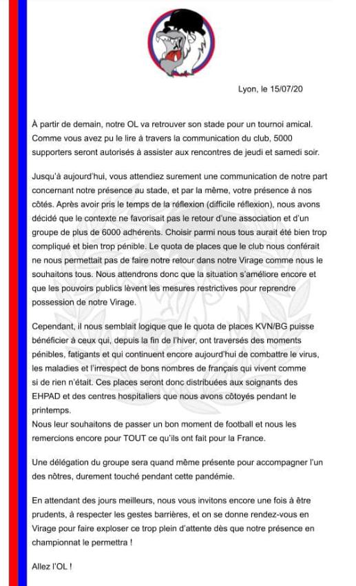 PSG/OL - Les Bad Gones annoncent qu'ils ne seront pas à la finale de la Coupe de la Ligue