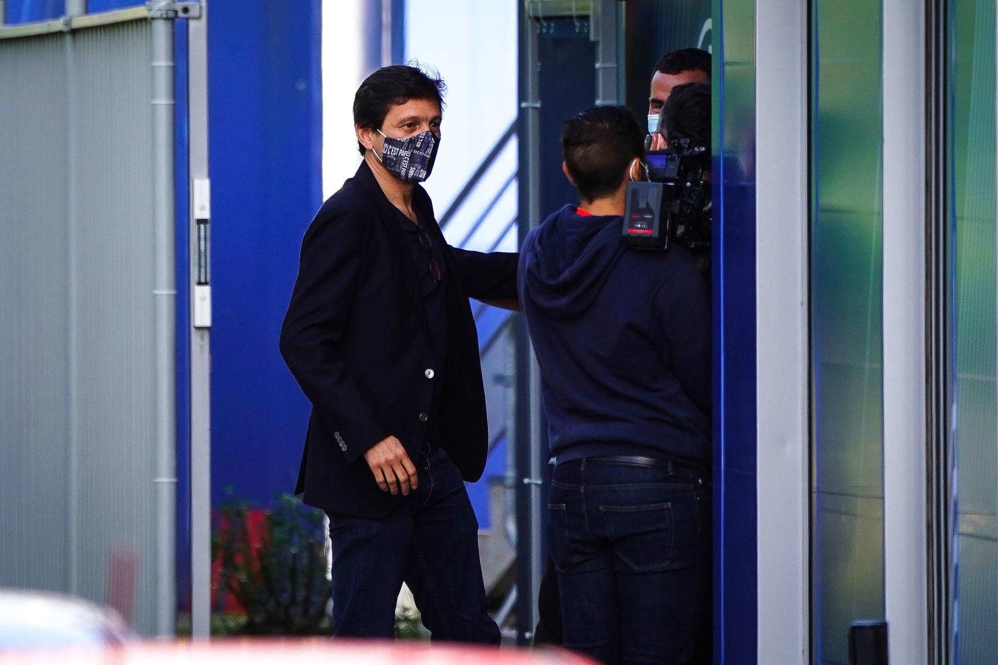 Leonardo encore présent à l'entraînement des Féminines du PSG ce mercredi