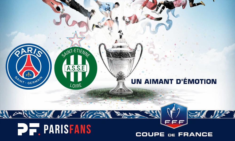 PSG/Saint-Etienne - Chaînes et horaire de diffusion de la finale de Coupe de France
