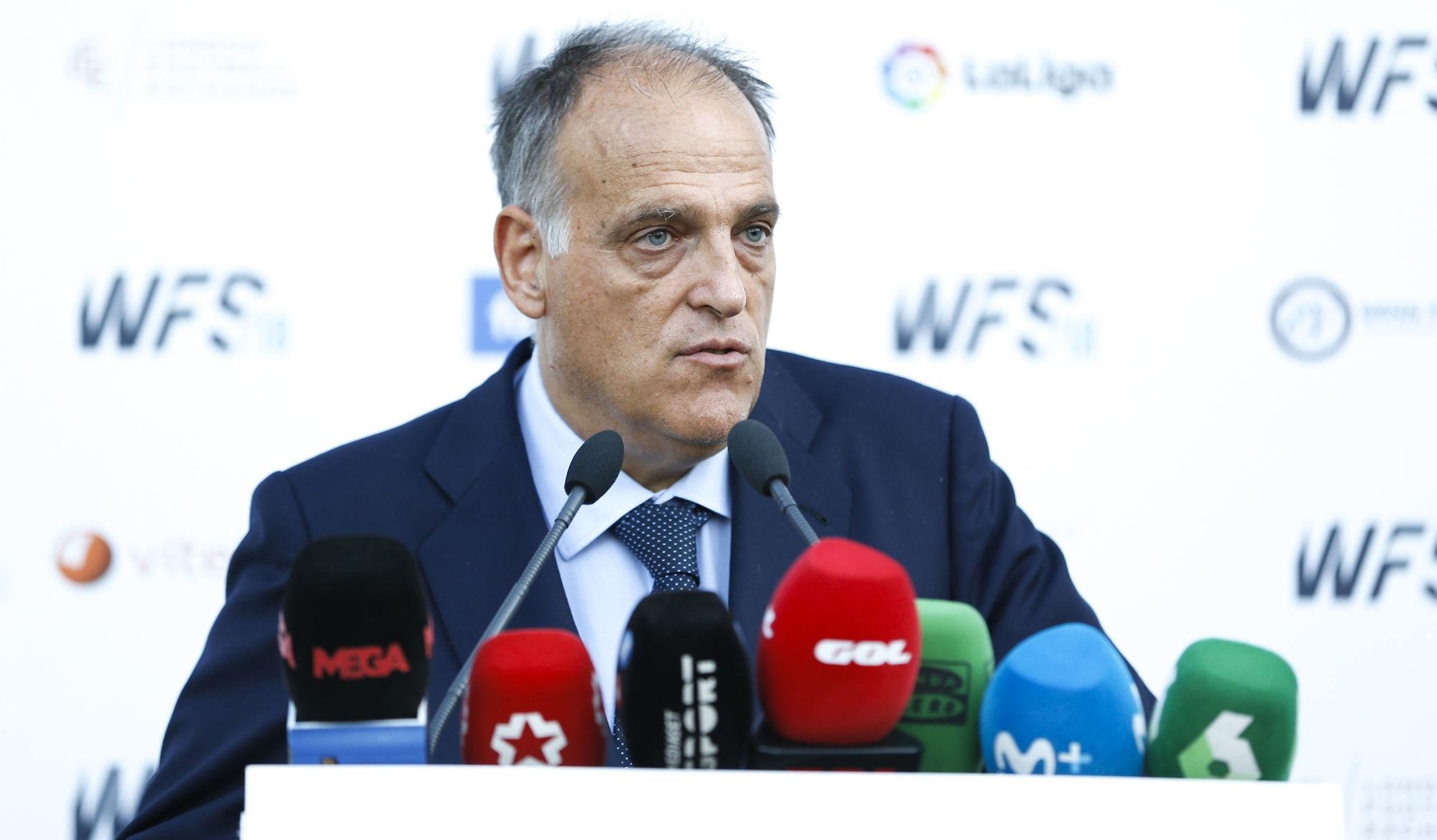 """Tebas insiste avec le PSG, qui """"fait beaucoup de mal au football européen."""""""