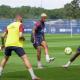 Revivez des extraits de l'entraînement du PSG ce lundi au plus près des joueurs