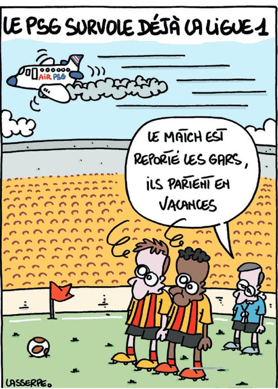 L'Equipe s'amuse du report de Lens/PSG dans un dessin