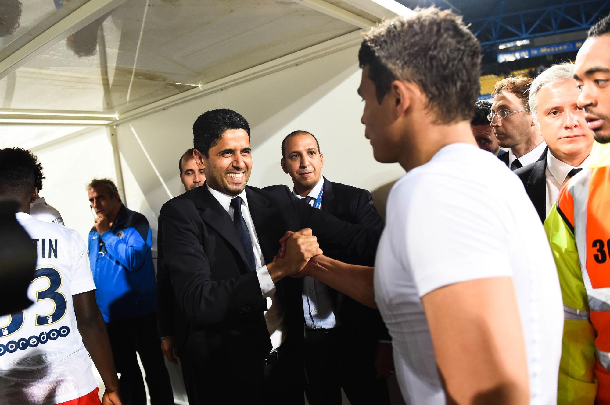 """Al-Khelaïfi rend hommage à Thiago Silva """"tu feras toujours partie de la famille et de l'histoire du PSG"""""""