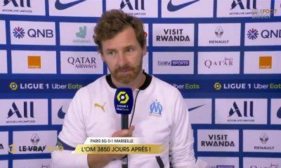 """PSG/OM - Villas-Boas affirme """"c'était le bon moment pour nous"""" et """"l'arbitre a perdu la tête"""""""