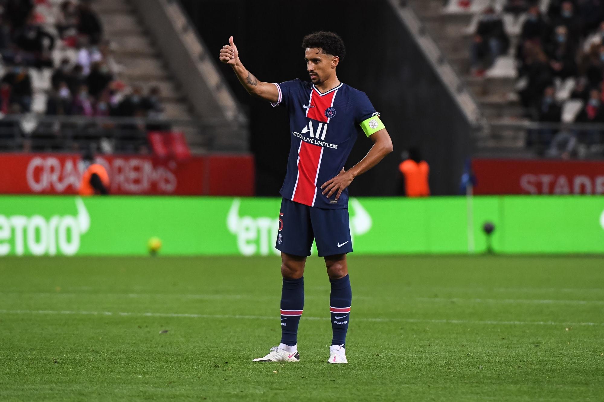 """Reims/PSG - Marquinhos est heureux de la victoire même si Paris """"peut faire mieux"""""""