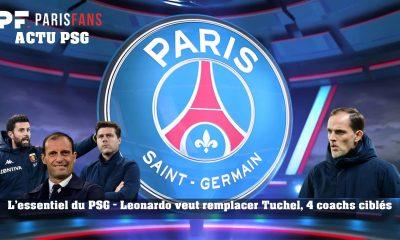 L'essentiel du PSG - Leonardo veut remplacer Tuchel, 4 entraîneurs visés