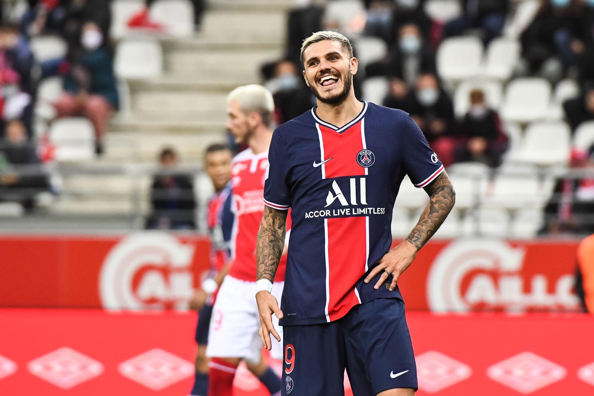 Le 1er but d'Icardi à Reims élu plus beau but du PSG en septembre par les supporters