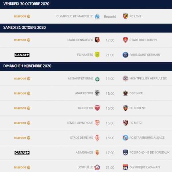 Ligue 1 – Présentation de la 9e journée : le PSG à Nantes, Lille reçoit Lyon