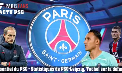 L'essentiel du PSG - Statistiques de PSG-Leipzig, Tuchel sur la défensive
