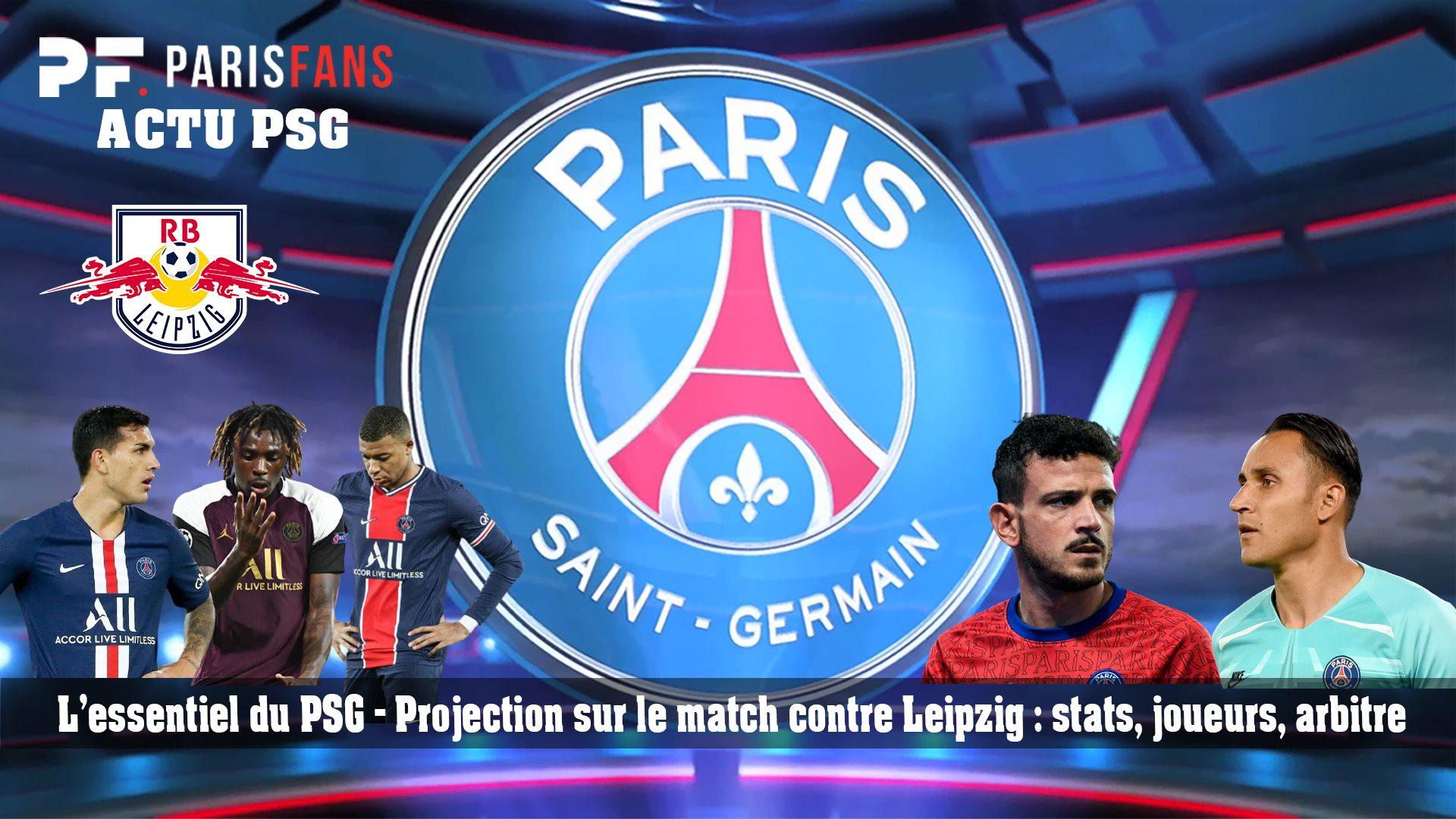 L'essentiel du PSG - Projection sur le match contre Leipzig : stats, joueurs, arbitre