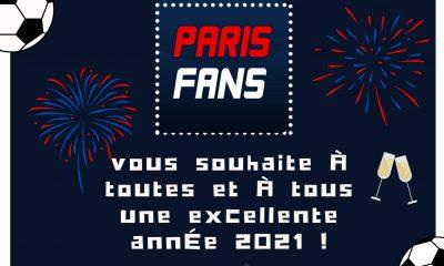 Parisfans vous souhaite une bonne année 2021