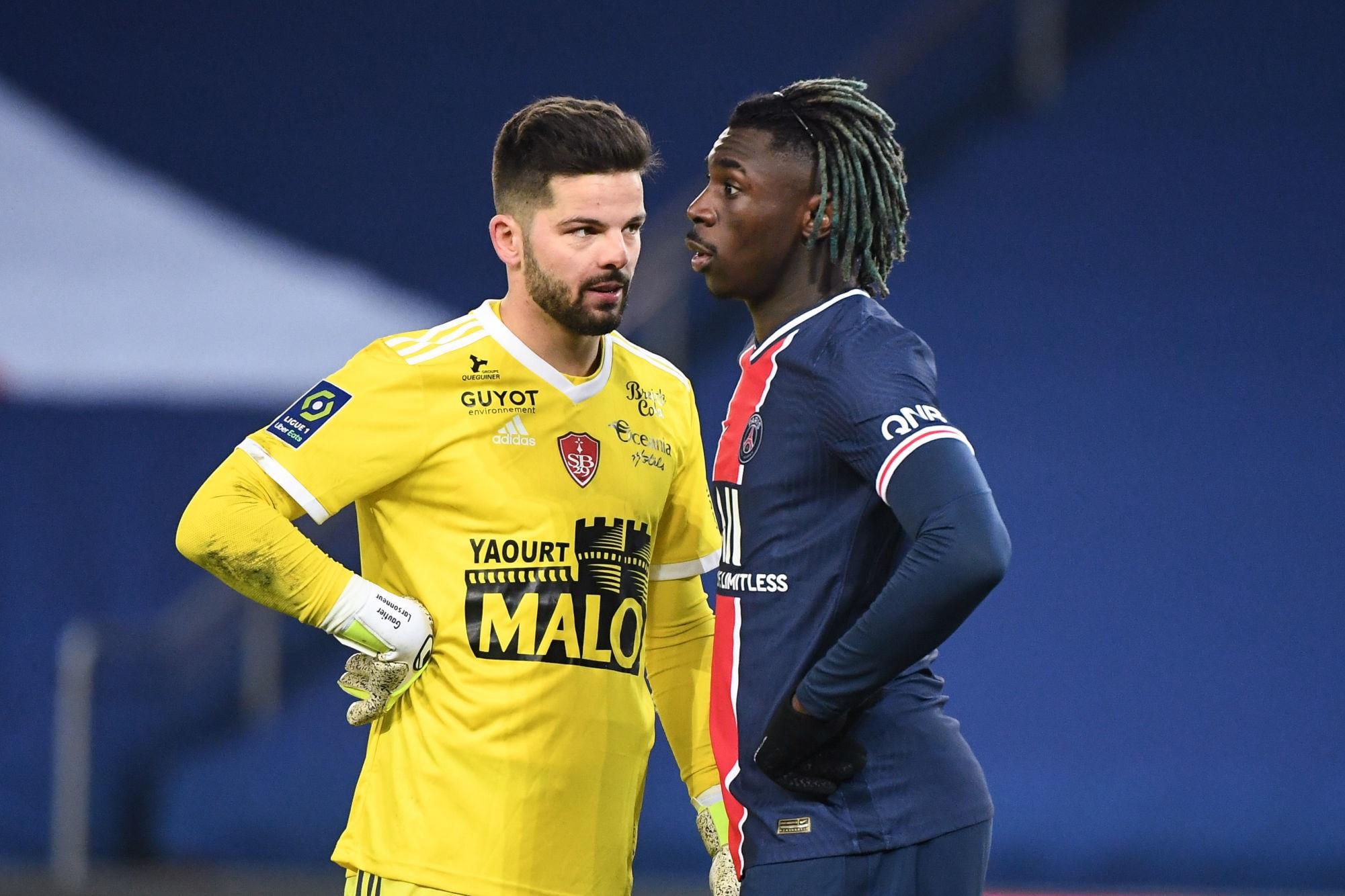 """PSG/Brest - Larsonneur retient """"On a montré qu'on peut tenir tête au PSG sans mettre un bloc bas"""""""