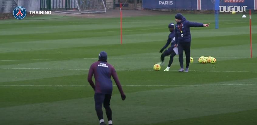 Saint-Etienne/PSG - Retrouvez des extraits du dernier entraînement des Parisiens