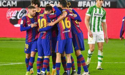 LDC - Le Barça arrache la victoire sur la pelouse du Betis Séville