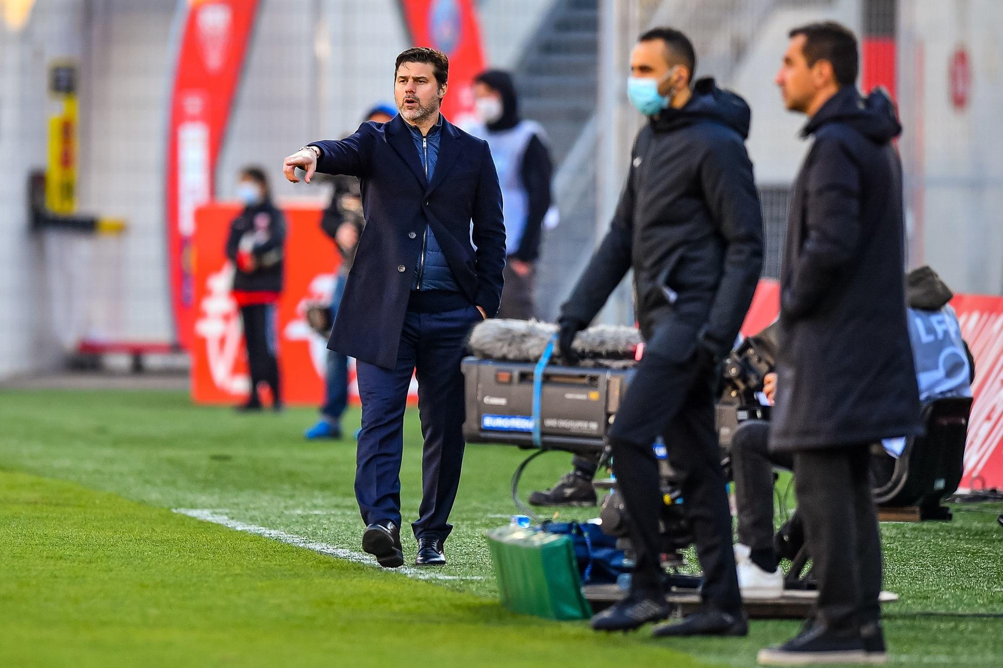 Dijon/PSG - Pochettino évoque sa joie, Danilo, Diallo, Rafinha, la Ligue 1 et OM/OL