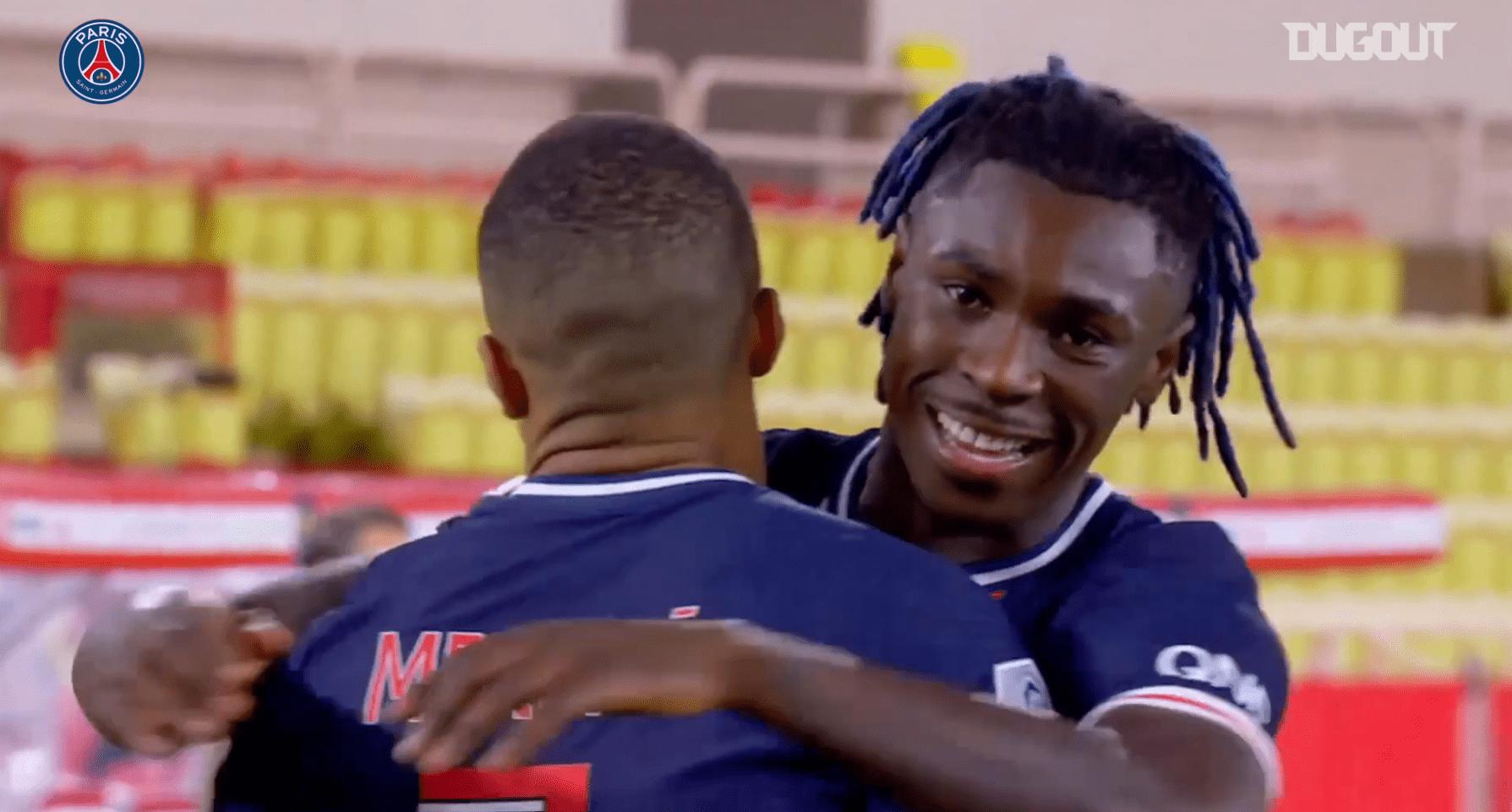 Retrouvez les 5 plus beaux buts de Mbappé avec le PSG face à Monaco