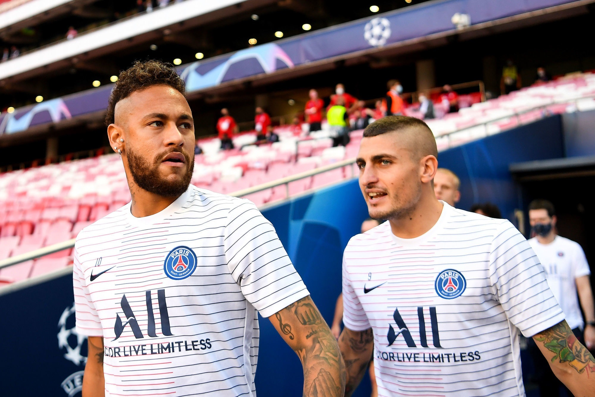 Verratti et Neymar ont travaillé avec le groupe à l'entraînement ce jeudi