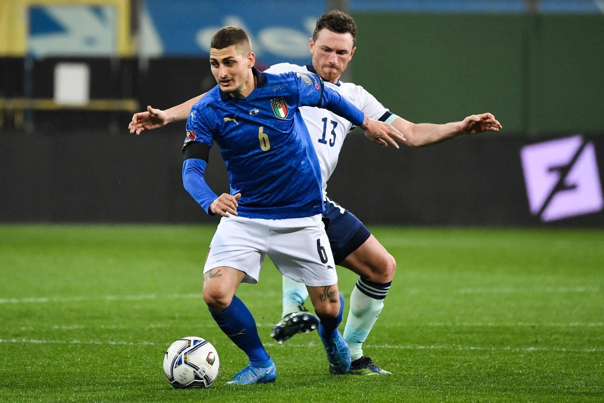 Verratti a pu rejouer lors d'un match amical avec Pescara contre l'Italie
