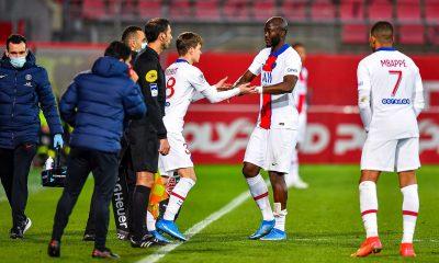 Edouard Michut a eu le droit à son bizutage après la victoire du PSG contre Dijon