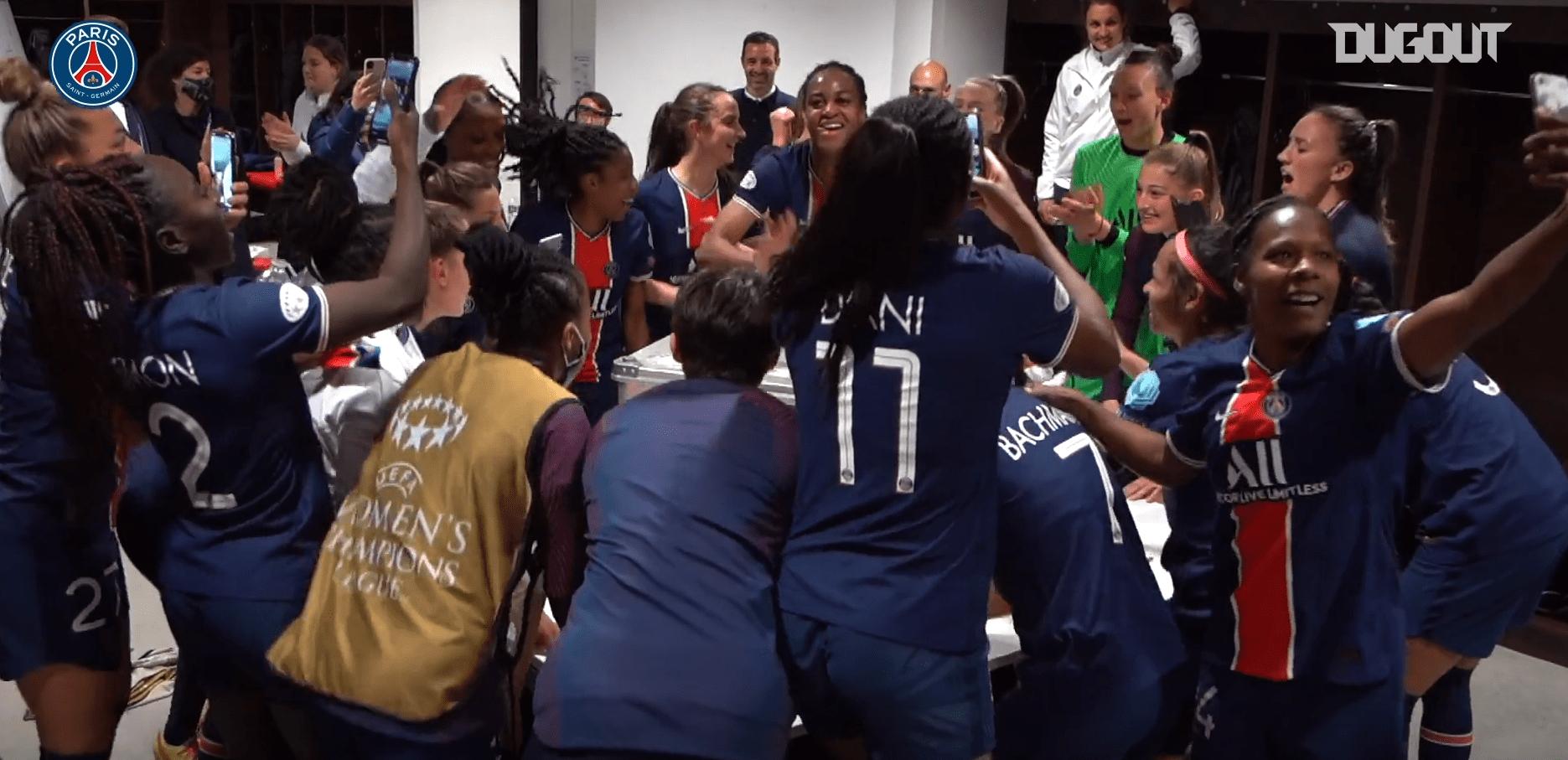 Lyon/PSG - Revivez les célébrations parisiennes au plus près des joueuses