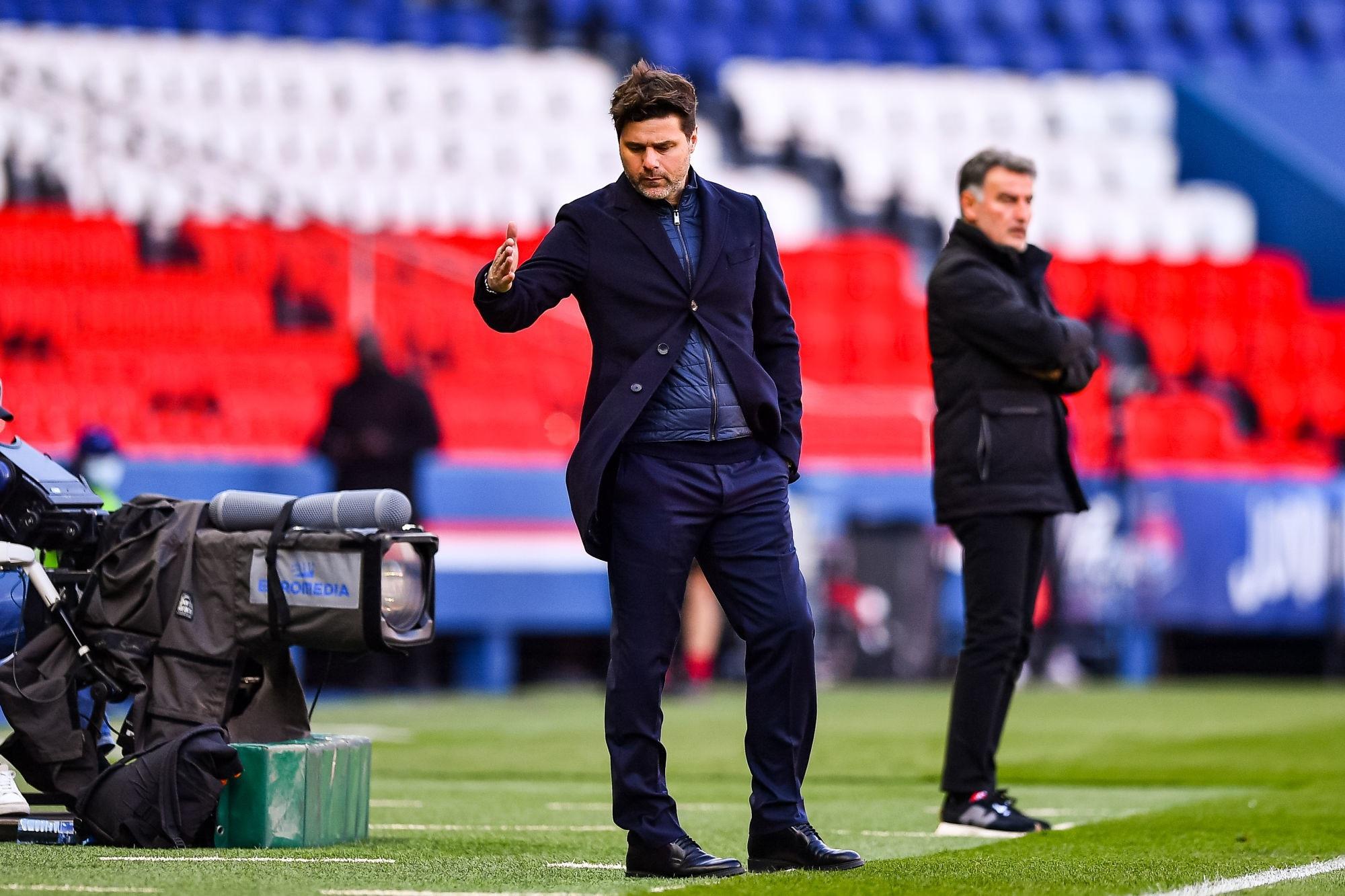 """PSG/Lille - Pochettino regrette le manque de régularité de son équipe mais n'est pas """"inquiet"""""""