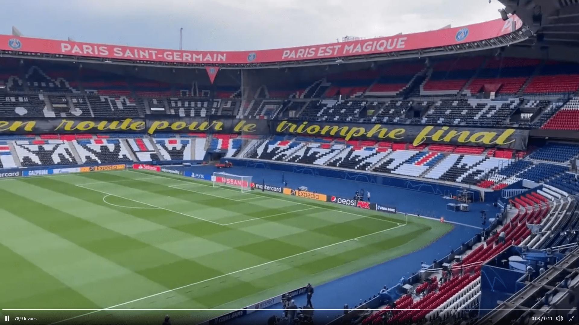 PSG/City - Le superbe tifo du Collectif Ultras Paris au Parc des Princes