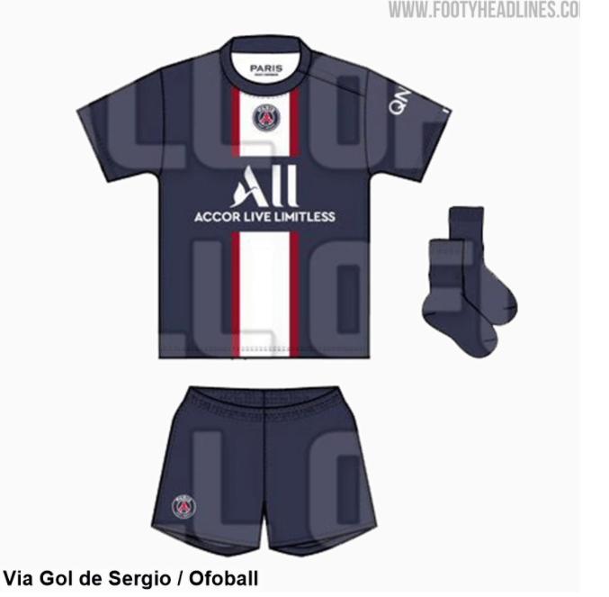 Footy Headlines publie une première image du maillot domicile du PSG 2022-2023