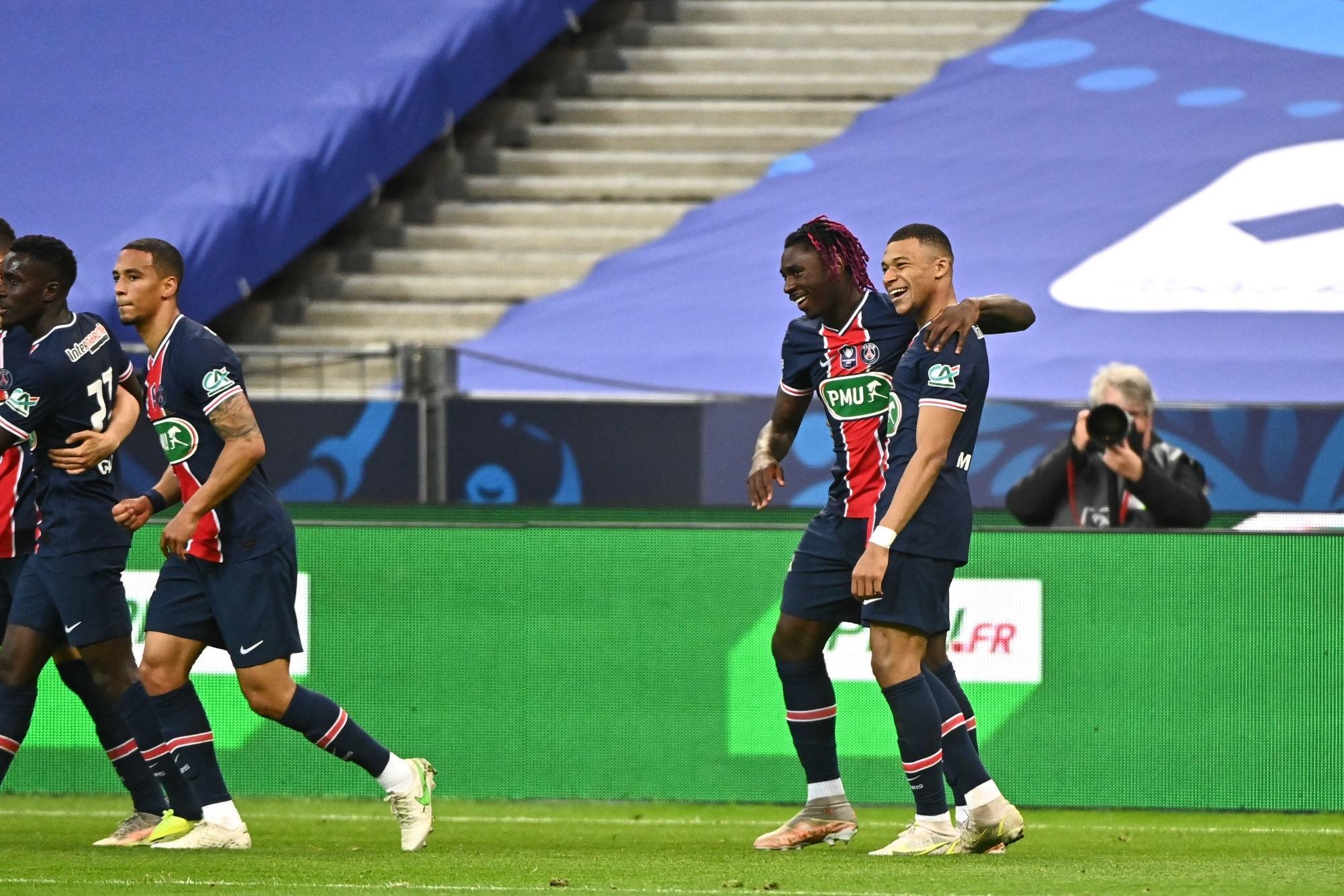 """Monaco/PSG - Mbappé évoque le """"travail de tout un groupe"""" et le fait """"d'écrire l'histoire"""""""