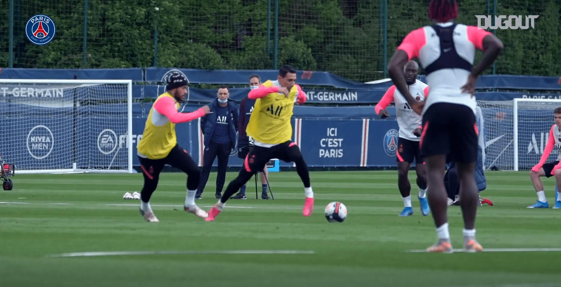 PSG/Reims - Retrouvez des extraits du dernier entraînement des Parisiens