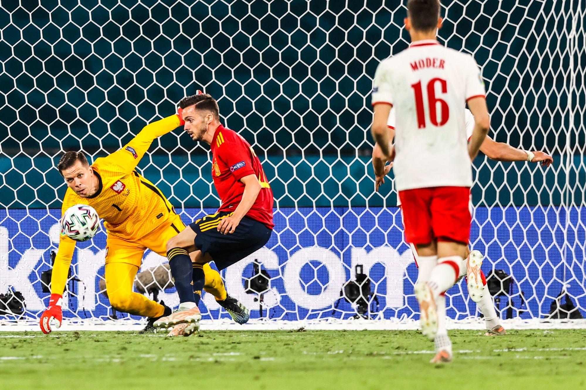Sarabia a participé au match nul entre l'Espagne et la Pologne