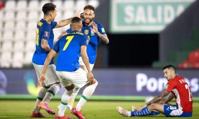 Neymar encore décisif lors de la victoire du Brésil contre le Paraguay