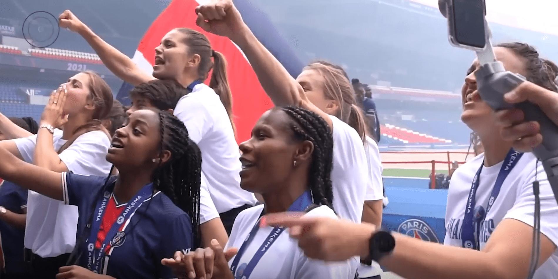 Revivez les célébrations des Féminines du PSG pour le titre en D1