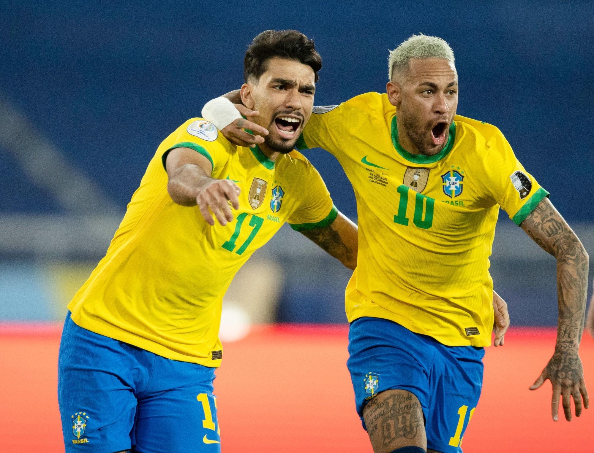 Brésil/Chili - Neymar et Marquinhos ont aidé les Brésiliens à se qualifier