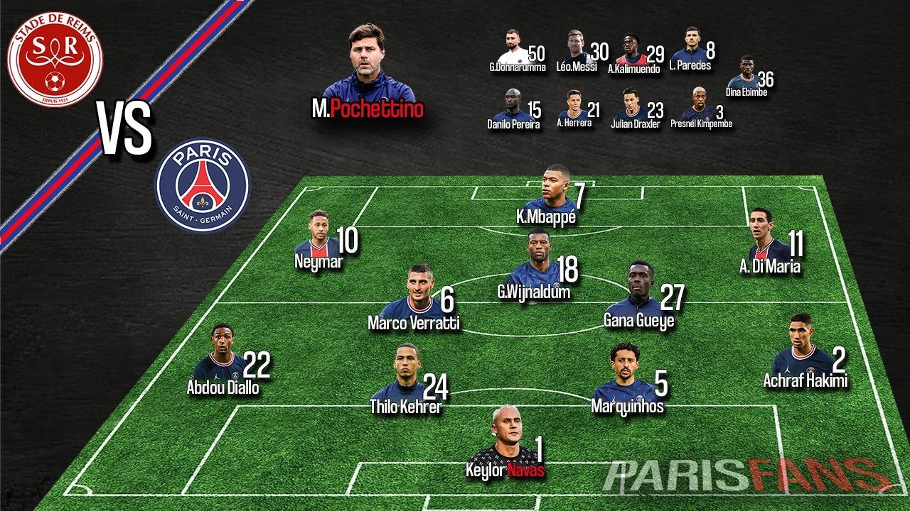 Stade de Reims / Paris Saint-Germain - 4e journée de Ligue 1 Uber Eats