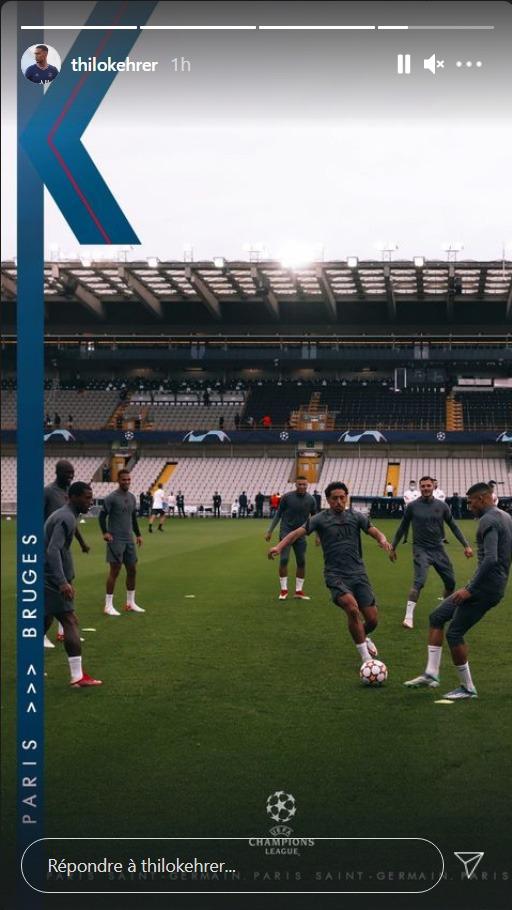 Les images du PSG ce mardi: Conférence de presse et déplacement avant Bruges/PSG, notes FIFA22
