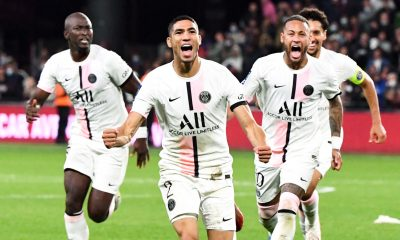 """Metz/PSG - Hakimi se réjouit """"On a lutté jusqu'au bout pour prendre les 3 points. Je suis fier"""""""