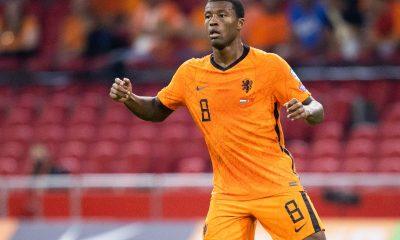 Wijnaldum sélectionné avec les Pays-Bas pour la trêve d'octobre